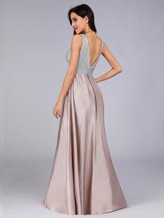 4081f47219cc3 Women V Neck Paillette Floor Length Evening Dresses | Ever-Pretty  #eveningdress #eveningdresses