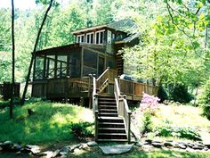 Linville north carolina vacation rentals grandfather for Fishing cabins in nc