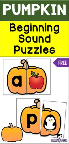 Pumpkin Beginning Sounds Puzzles : FREE 26 PuzzlesYou can find Beginning sounds and more on our website.Pumpkin Beginning Sounds Puzzles : FREE 26 Puzzles Kindergarten Language Arts, Kindergarten Centers, Kindergarten Reading, Kindergarten Classroom, Teaching Reading, Guided Reading, Classroom Decor, Learning Letters, Alphabet Activities