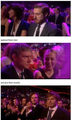 Their reactions to Downtown Abbey winning are priceless. I love Amanda's reaction to Martin's expression. But I do agree with them. One of these three should have won. I don't think the others would have been so confused or angry.