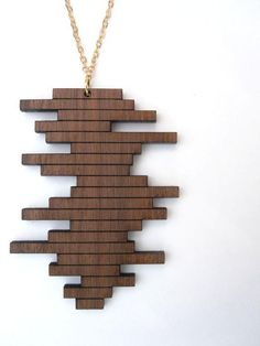 Staggered Block Necklace