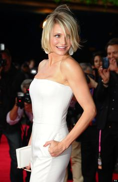 Cameron Diaz looks stunning in a white Stella McCartney jumpsuit at Cannes