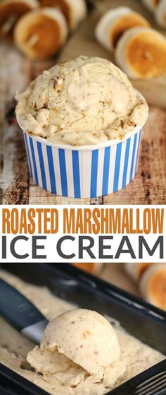 Take a camp-fire favourite and inject it right into a creamy, no-churn ice cream with this Roasted Marshmallow Ice Cream recipe, and make it your new summer-time fave!