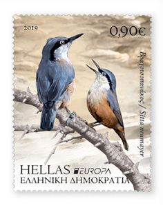 Greece Date of Issue: May 2019 two stamps se-tenant & €) both stamps are issued in a sheet of 16 stamps stamps.