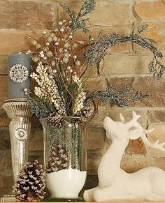 So pretty - christmas decorations made of natural materials for green holiday decor