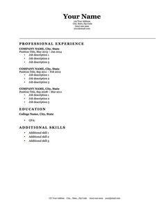 Simple Free Resume Template Httpresumeansurcsimpleresumetemplate  Simple Resume