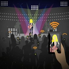 """""""Why Weak Wi-Fi Will Turn Any Concert into One Ugly Mosh Pit"""" by Lorna Pierno.  Our smartphones have changed the way that we engage with almost everything including live events. Most concert goers expect the ability to make updates in real-time and anything less is likely to cause an uproar. Read more on how Xirrus specializes in this niche methodically developing solutions to handle the hurricane of high-resolution photos and gigabyte-sucking videos that inevitably occurs at live events…"""