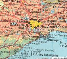 brasil san pablo mapa - Buscar con Google