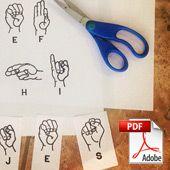Cut & Paste ASL Letters