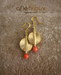 Aflé Bijoux African Earrings Coral Earrings #aflebijoux #bijoux #etsy #jewelry