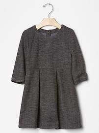 Herringbone pleat dress