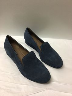 e794a8877bc5 Ecco Blue Suede Casual Loafer Flat Shoes Womens 38  7-7.5  fashion   clothing  shoes  accessories  womensshoes  flats (ebay link)