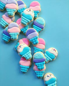 Completely adorable ice cream cone cookies