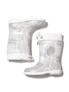 Quilted Logo Rainboot by Armani Junior