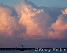 Sunset Photography Ocean Photography Clouds by StacyHellerFineArt