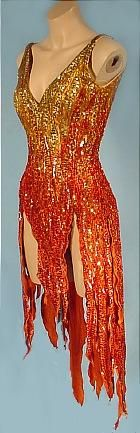 1970's  MARY TYLER MOORE  BOB MACKIE  Flame Dance Costume