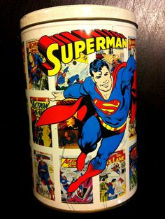 SUPERMAN Collector Tin 50TH ANNIVERSARY Classic Vintage DC Comics Covers #Superman #DCComics