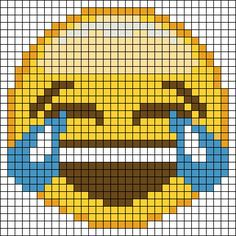 Emoji perler bead pattern- can't believe it. I LOVE perler beads, but you know...