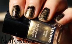 Chanel Peridot with black to make a snake skin look