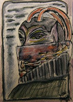 VisionDialogue • Favourite Tales - 4 Christopher Carrion from Books of Abarat by Clive Barker - an all time favourite of mine.   Inktense Pencils on heavy watercolour paper  for more info pls check out the blog