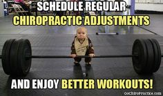 Schedule regular chiropractic adjustments and enjoy better workouts!