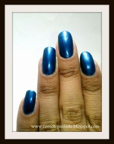 Z de Zafiro #swatches #nails #uñas #comotepintaste #esmaltes #polish #blue #azul #esenciavital #retoabc