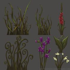 Assorted Plants, Andy Hansen on ArtStation at https://www.artstation.com/artwork/assorted-plants