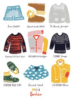 Poster design for Boden by Debbie Powell (via Eight Hour Day)