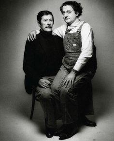 Jean Rochefort et Coluche