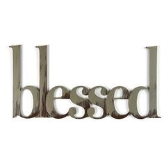 Letter2Word Hand Painted Blessed 3D Wall Sculpture - Nickel : Target
