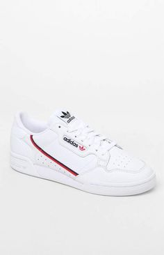 meet 1e3e1 00cb4 adidas White   Red Continental 80 Shoes