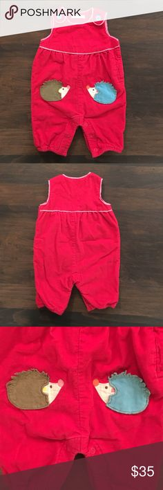 Baby Boden Mini Girls 0-3 Months Hedgehog Jumper Super cute excellent used condition. Size 0-3 months. Super warm for winter! Mini Boden Bottoms Jumpsuits & Rompers