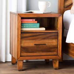August Grove® Kevin 1 Drawer Nightstand