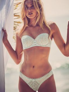 Wear this lace bra FIVE different ways—and fall in love over and over and over again. ♥ | Victoria's Secret Dream Angels Multi-Way Bra