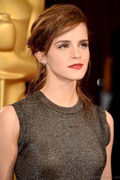 Emma Watson Cute Updo Hairstyle