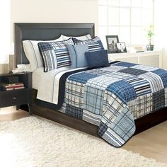 Breakwater Bay Saragosa Coverlet Set - Great gift idea for all your loved ones on all special occasions; surprise your friends and family with these fashionable comforter sets Nautical Bedding Sets, Beach Bedding, Coastal Bedding, Ruffle Bedding, Navy Bedding, Console, Lit Simple, Canada, Queen