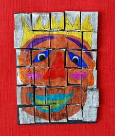 Cardboard Mosaics - a bit too hard for my kids but could work with a bit simpler version