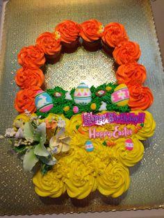 Easter basket pull apart cake