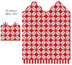 foto Knitted Mittens Pattern, Knit Mittens, Knitting Socks, Hand Knitting, Knitted Hats, Knitting Charts, Knitting Stitches, Knitting Patterns, Bead Loom Patterns