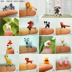 SuAmi - Miniature Crochet Animals Just don't know which one I love the most...