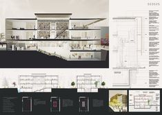 entry to Competition for Daegu Gosan Public Library by POC+P Architects Architecture Design, Public Architecture, Architecture Presentation Board, Library Architecture, Architecture Panel, Presentation Layout, Architecture Portfolio, Presentation Boards, Architectural Presentation