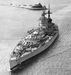 """Glamour shot of HMS Nelson, one of two members of the """"Cherry Tree"""" class of battleships. [640 x 671] - Imgur"""