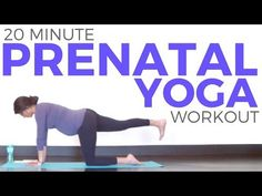 20 minute Prenatal Yoga Workout for Strength & Flexibility | All Trimesters - YouTube