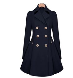 Coat Outerwear Jacket in Navy Blue