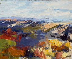 KMD2500 Vast Country landscape, abstract, Colorado, original fine art, painting by artist Kit Hevron Mahoney