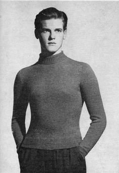 Roger Moore knitwear model - OMG!!!