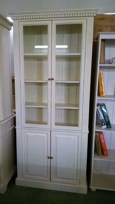 Glazed Pine Bookcase Cupboard Painted In Farrow Ball New