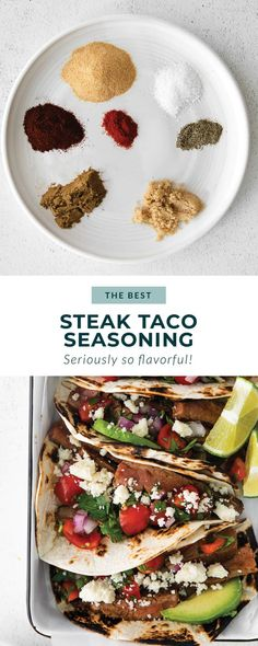 This super flavorful steak taco seasoning comes together in just 7 ingredients you likely have on hand in your spice cupboard already. Flank Steak Tacos, Spicy Steak, Steak Taco Seasoning, Copycat Recipes, Beef Recipes, Taco Spice Mix, Healthy Herbs, Homemade Spices, Best Steak