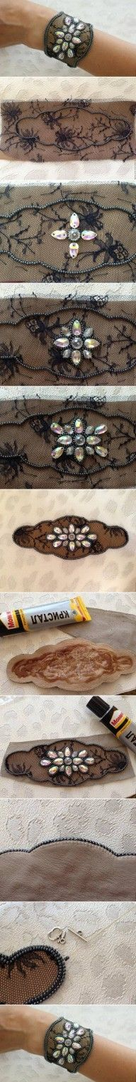 DIY Lace and Beads Bracelet DIY Projects