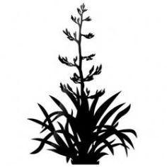 Bush silhouette at getdrawings. Bushes clipart flax Bush silhouette at getdrawings. Bushes clipart f Stencil Patterns, Stencil Art, Stencils, Flax Flowers, Social Media Art, Flax Plant, New Zealand Landscape, Maori Designs, New Zealand Art